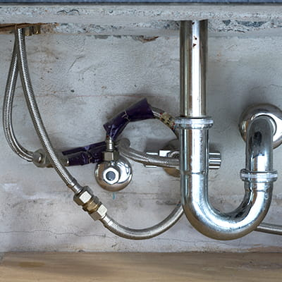 Braided flexible hoses under a sink are a major cause of water damage